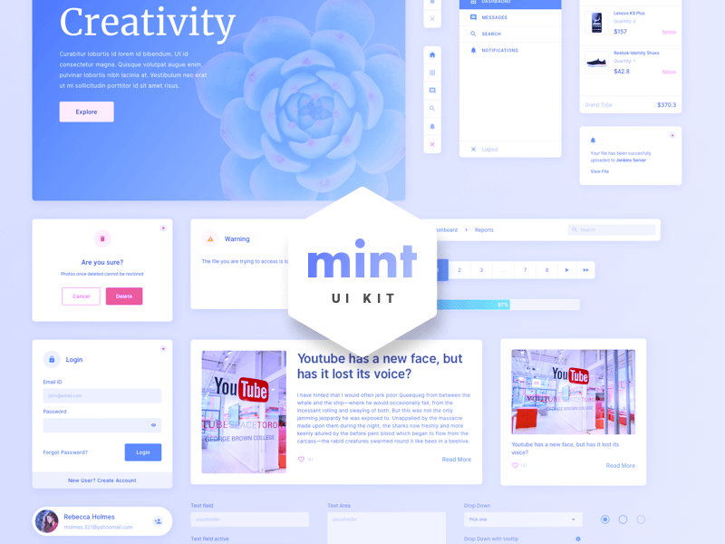 Mint - Free Sketch Web UI Kit cover image