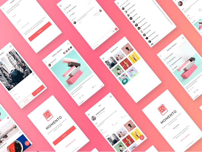 Momento - Free Sketch UI Kit cover image