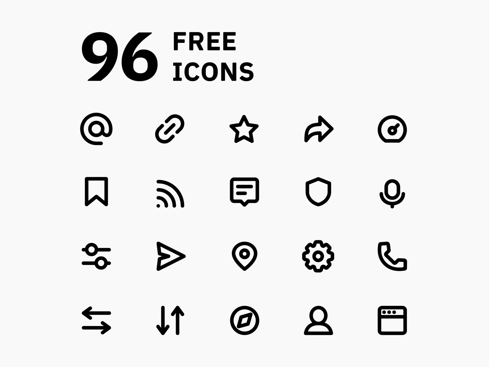 Super Basic Icons - Free Version cover image