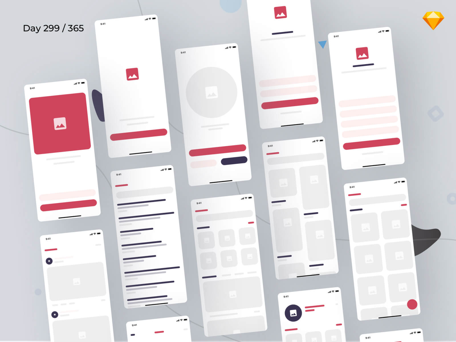 eBlocks - eCommerce Wireframe Kit iOS | Day 299/365 - Project365 cover image
