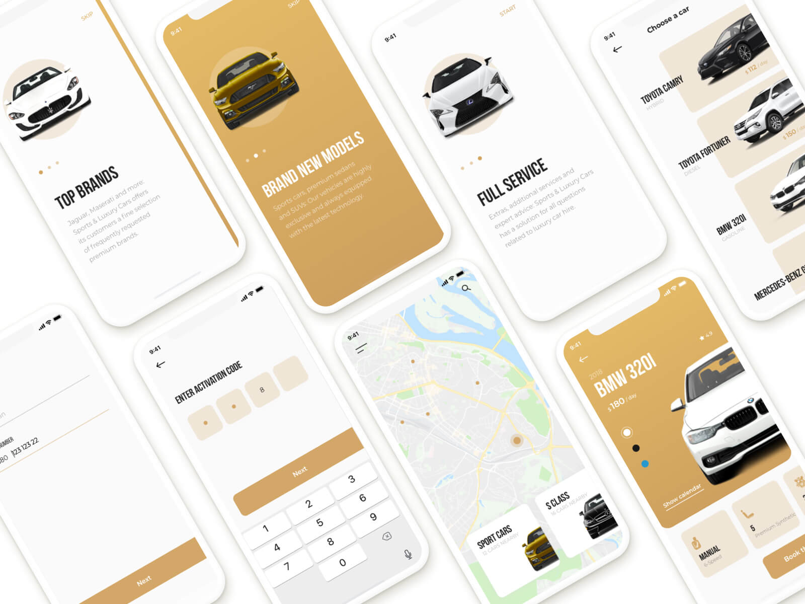 Car rental IOS app cover image