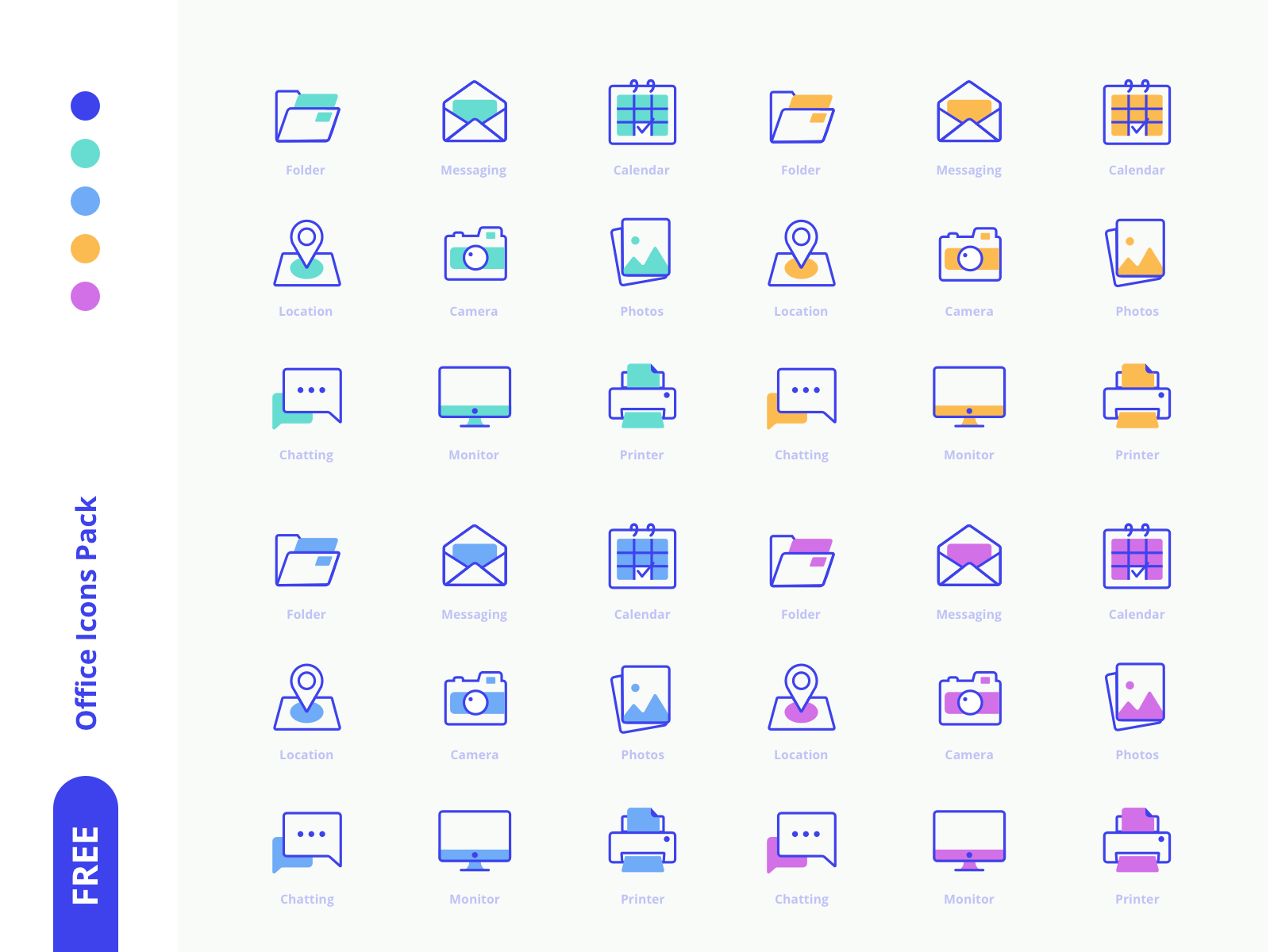 Freebies Office Icons Pack cover image