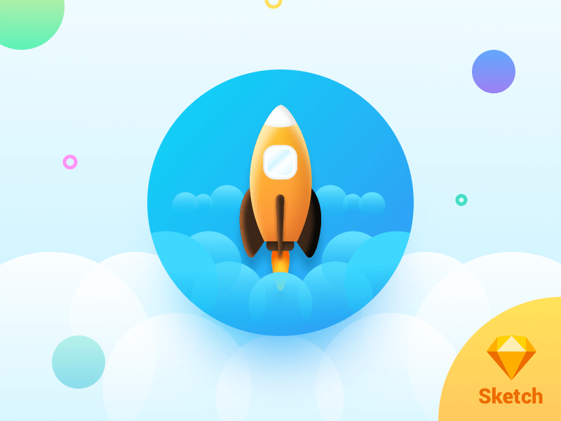 Spaceship for Sketch (freebie) cover image
