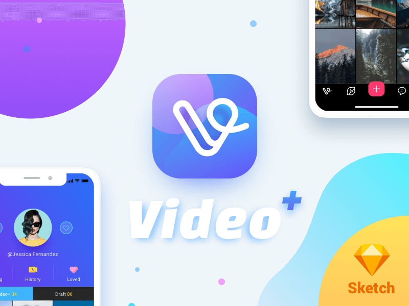 Video Plus for iPhone X (Sketch Freebie) cover image
