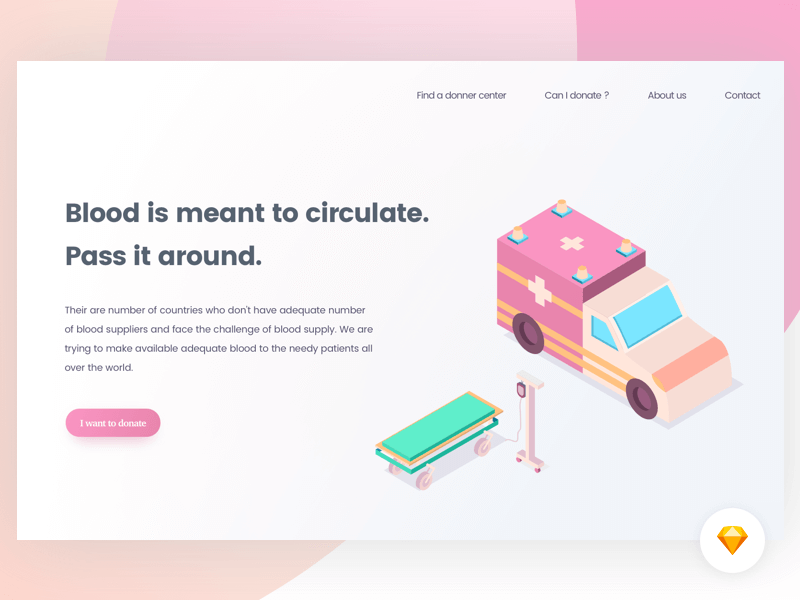 Blood donation - Landing page | Freebie cover image