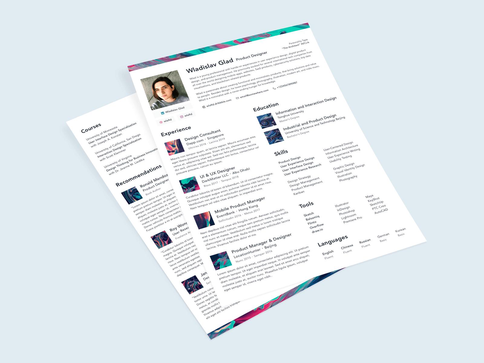 Resume Template ・ Freebie cover image