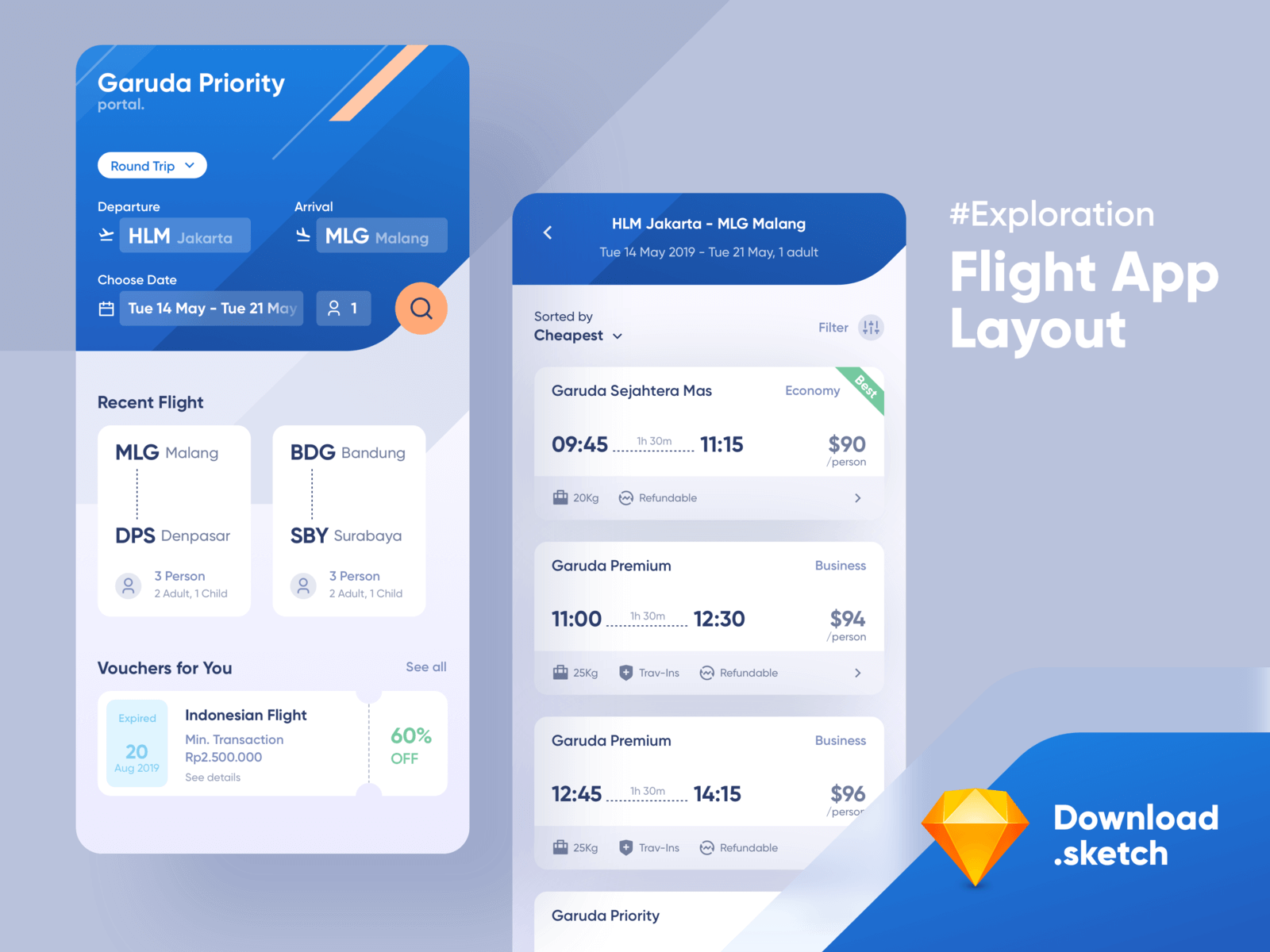 UI Flight Booking App cover image