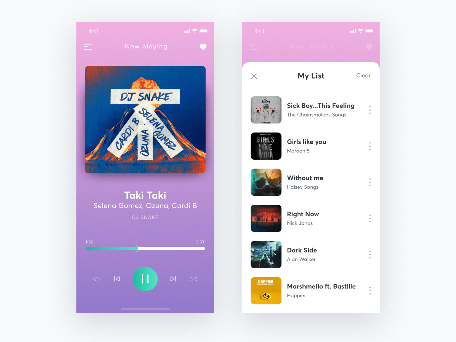 Music Player UI Exploration cover image