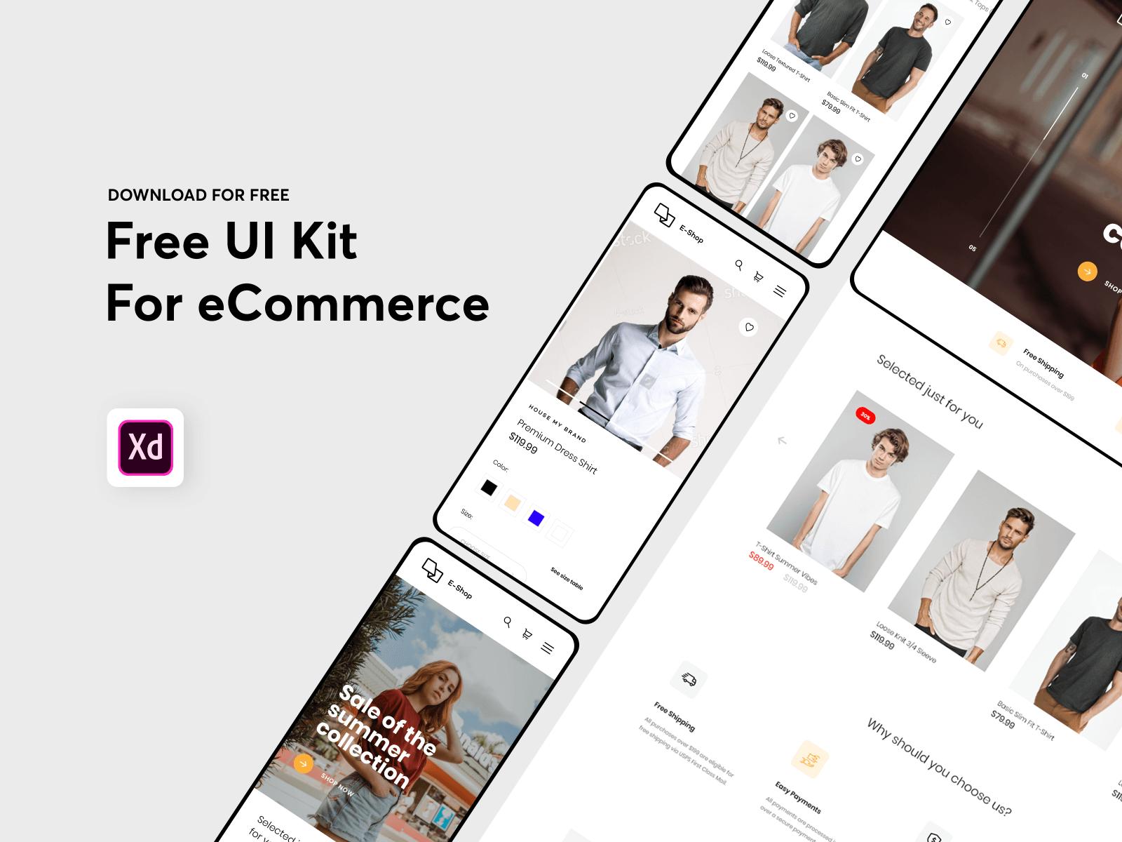 Responsive eCommerce UI kit cover image