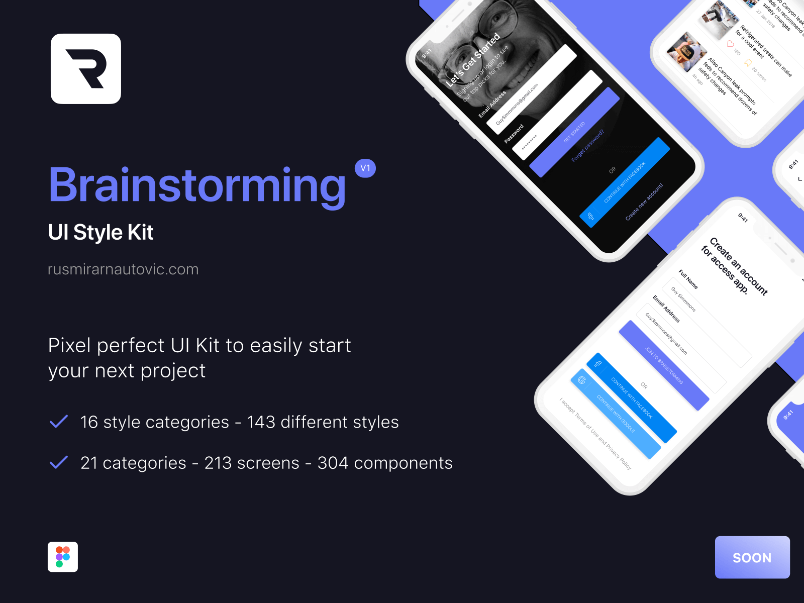 Brainstorming UI Style Kit cover image