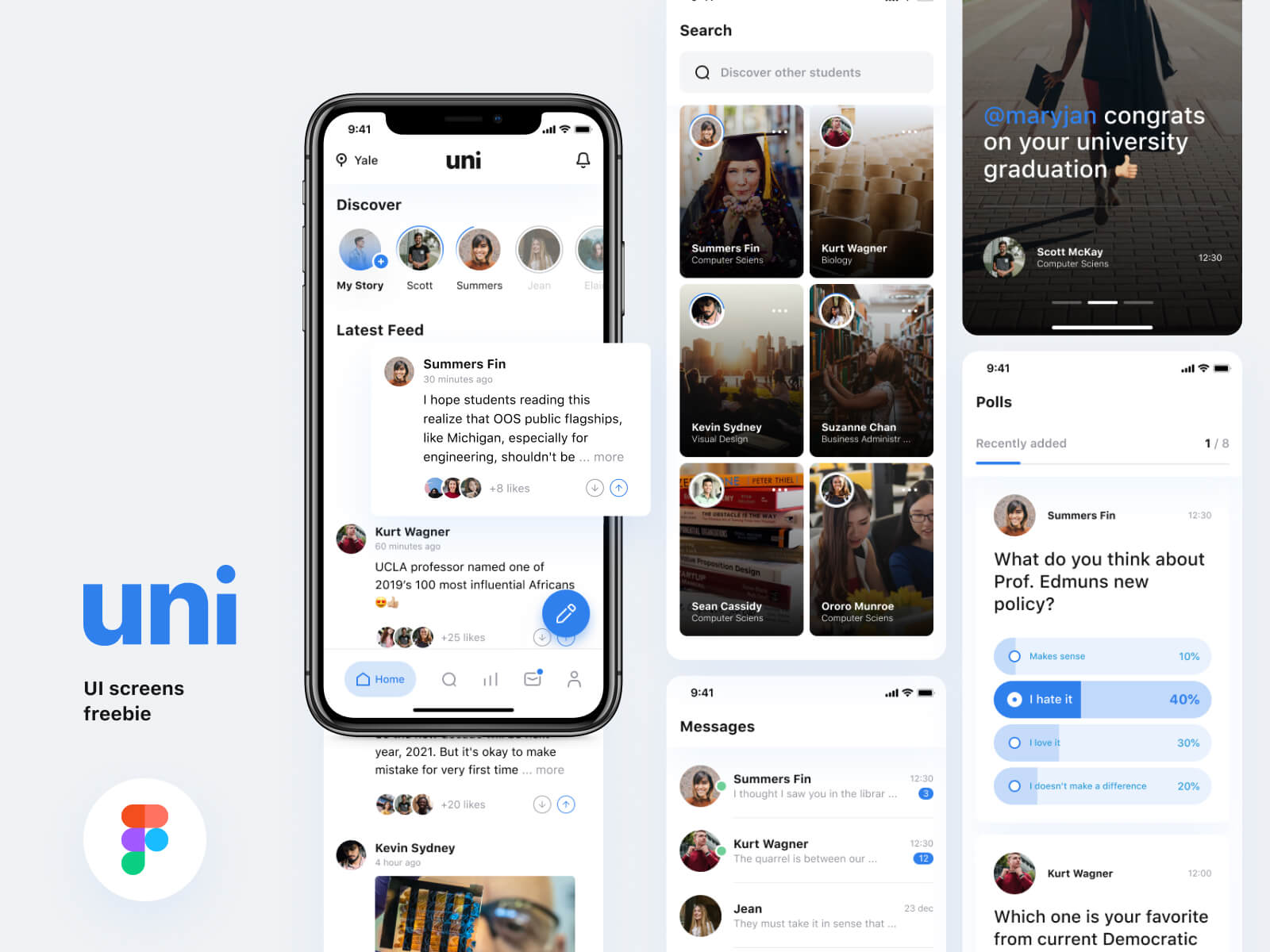 Uni-Social media app for college students cover image