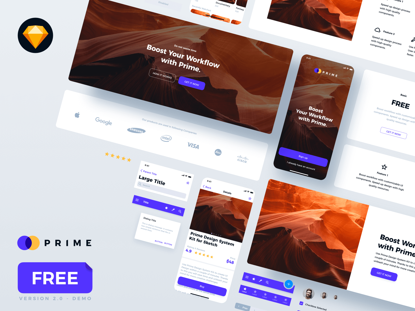 Prime 2.0 Design System Kit - FREE Demo cover image
