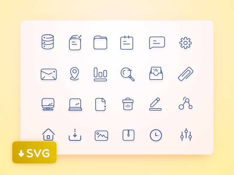 User Interface Icons set cover image