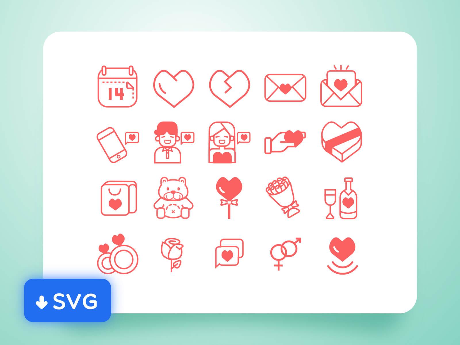 Valentine Day icon cover image