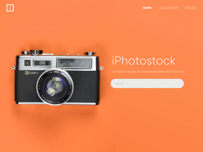 Stock Images Portal - Landing screen cover image