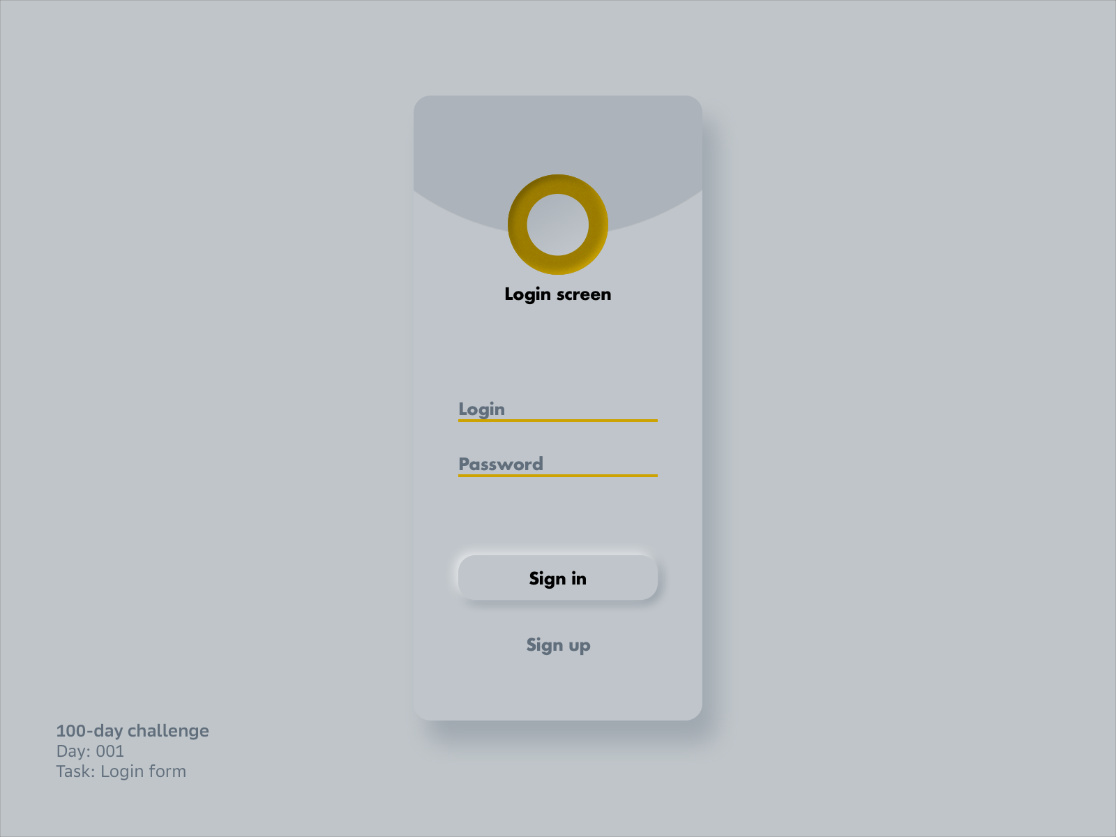 001 - Login form #DailyUI cover image
