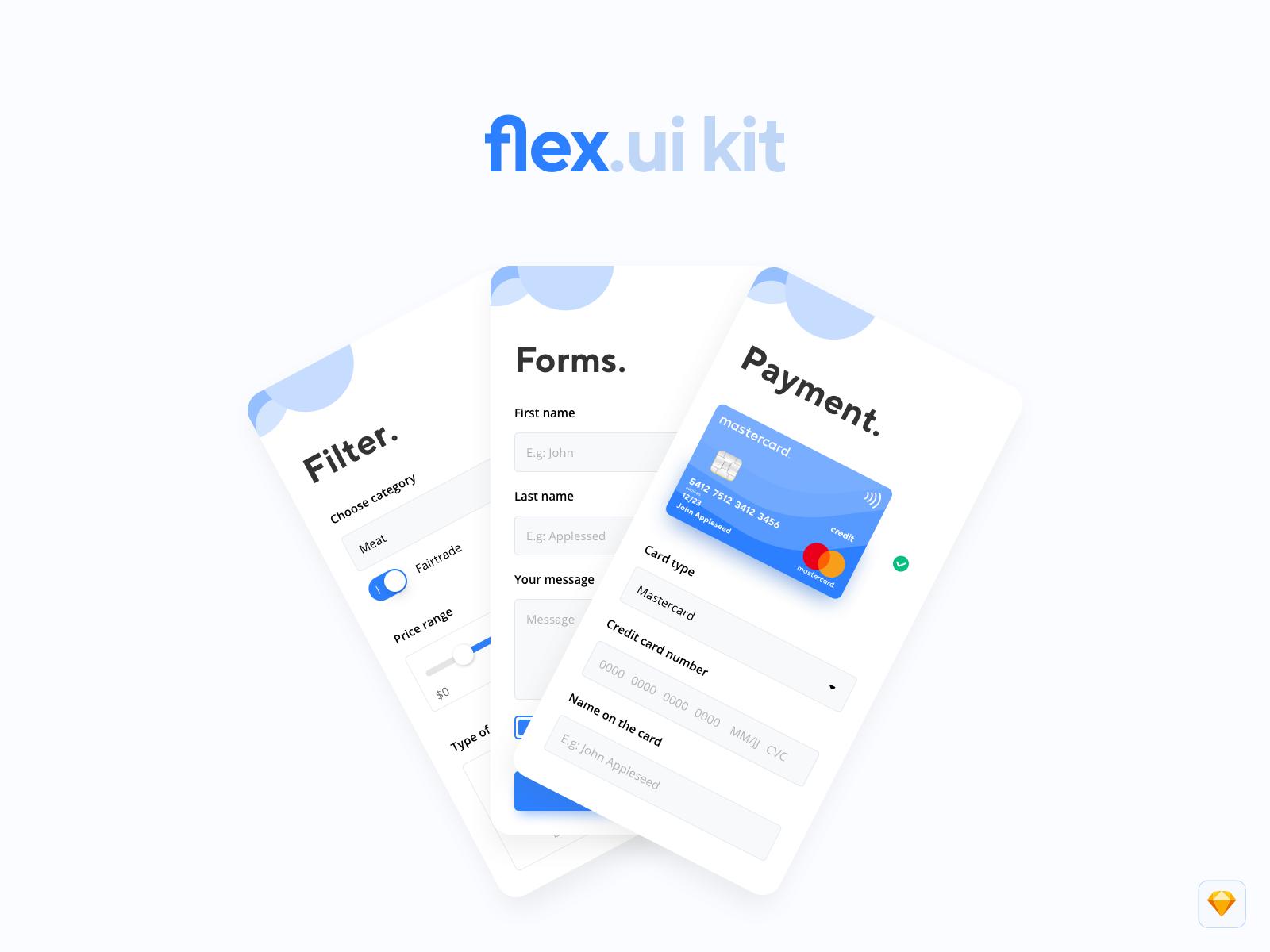 flex.ui kit (v.1.0) – Mobile UI Kit for your purpose cover image