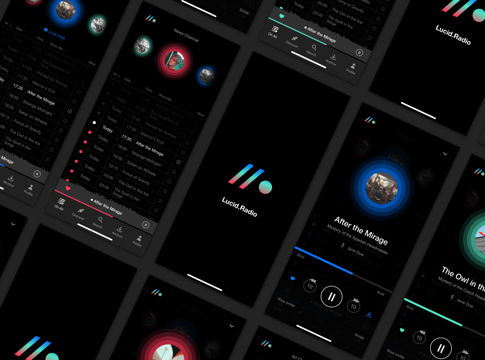 Radio/Podcast App UI Kit cover image