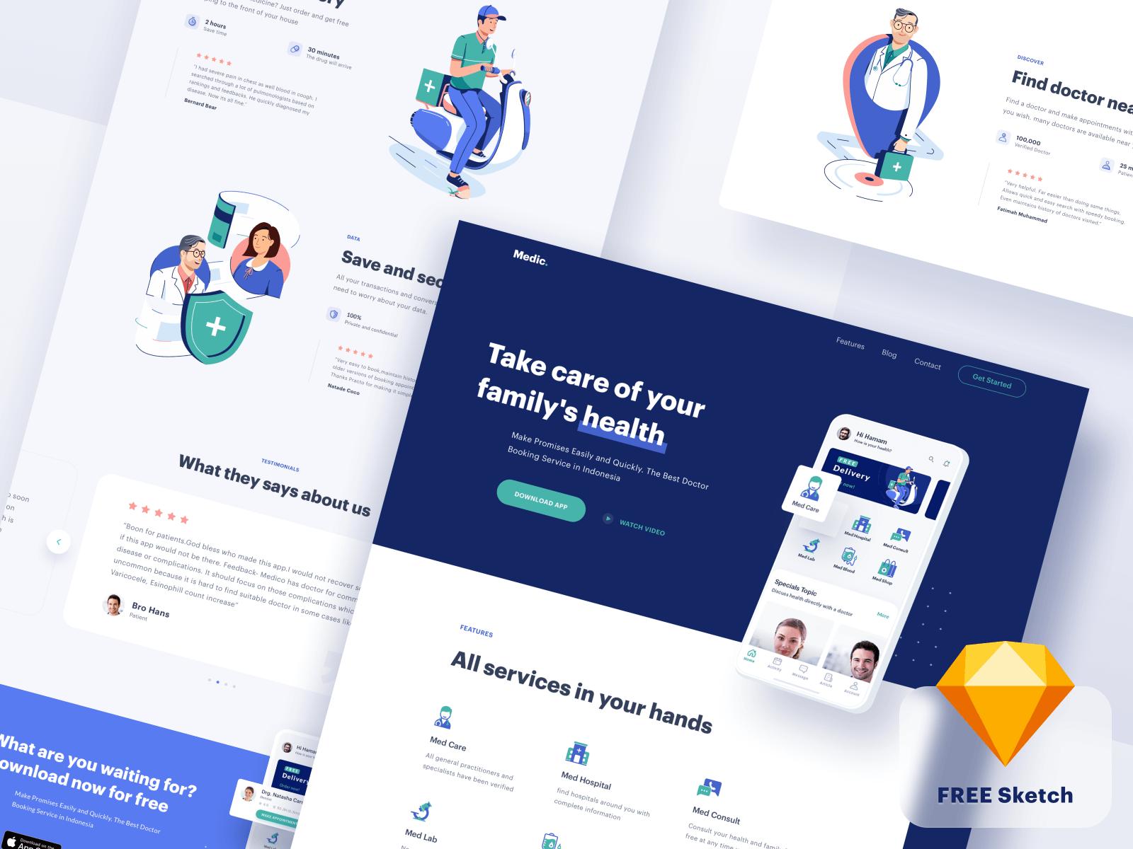Medical App - Website cover image