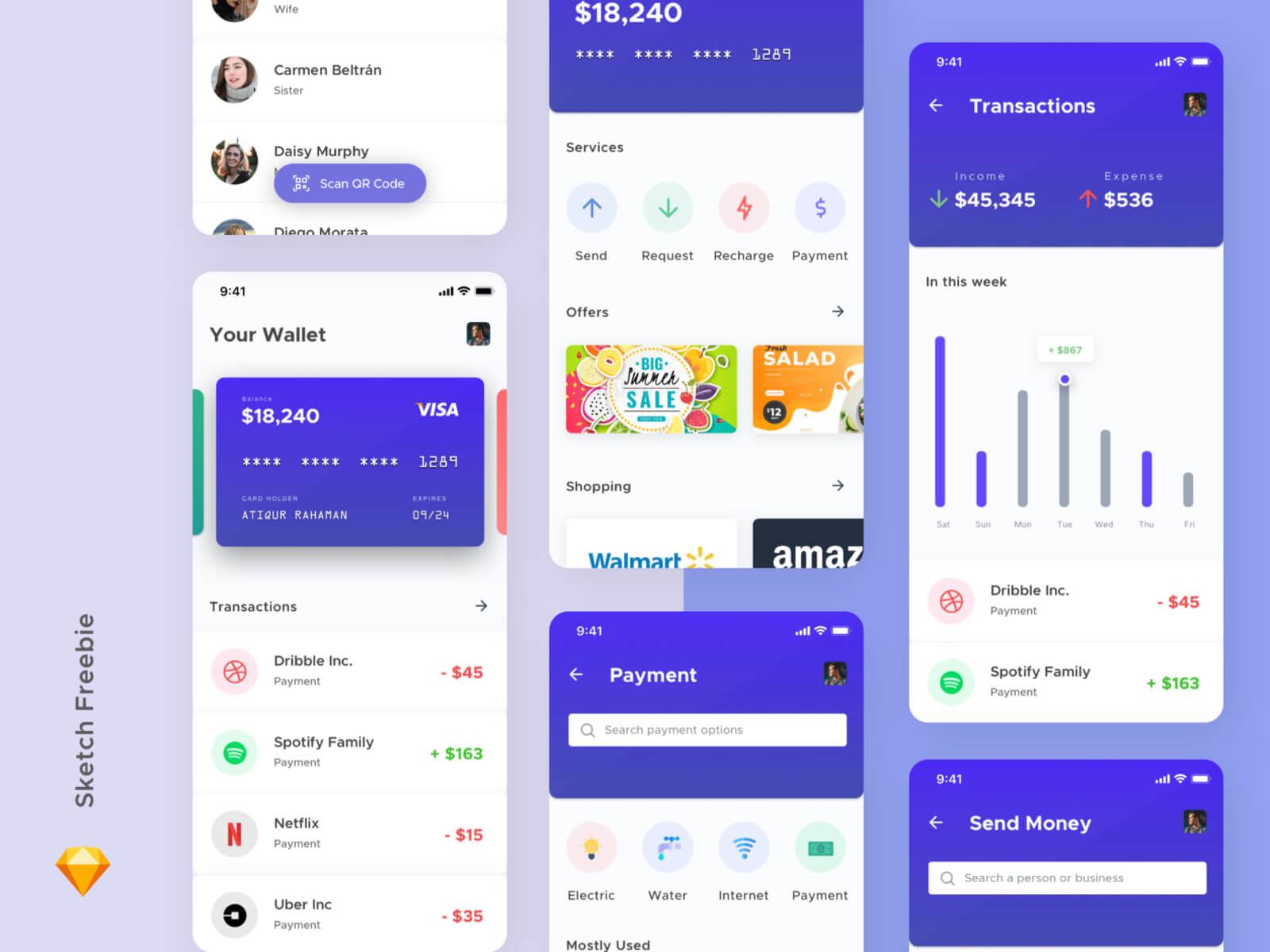Mobile Wallet App Concept cover image