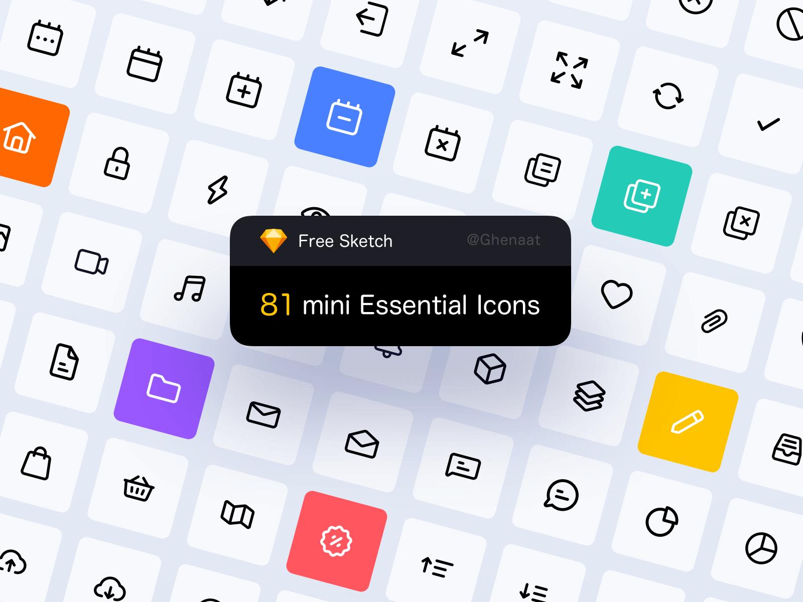81 mini Essential Icons cover image
