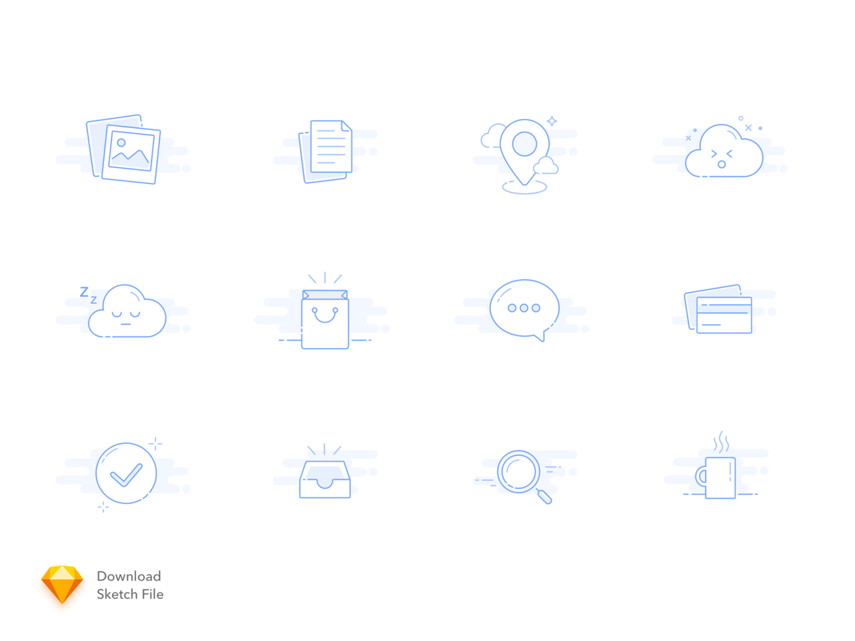 12 Empty States Icons cover image
