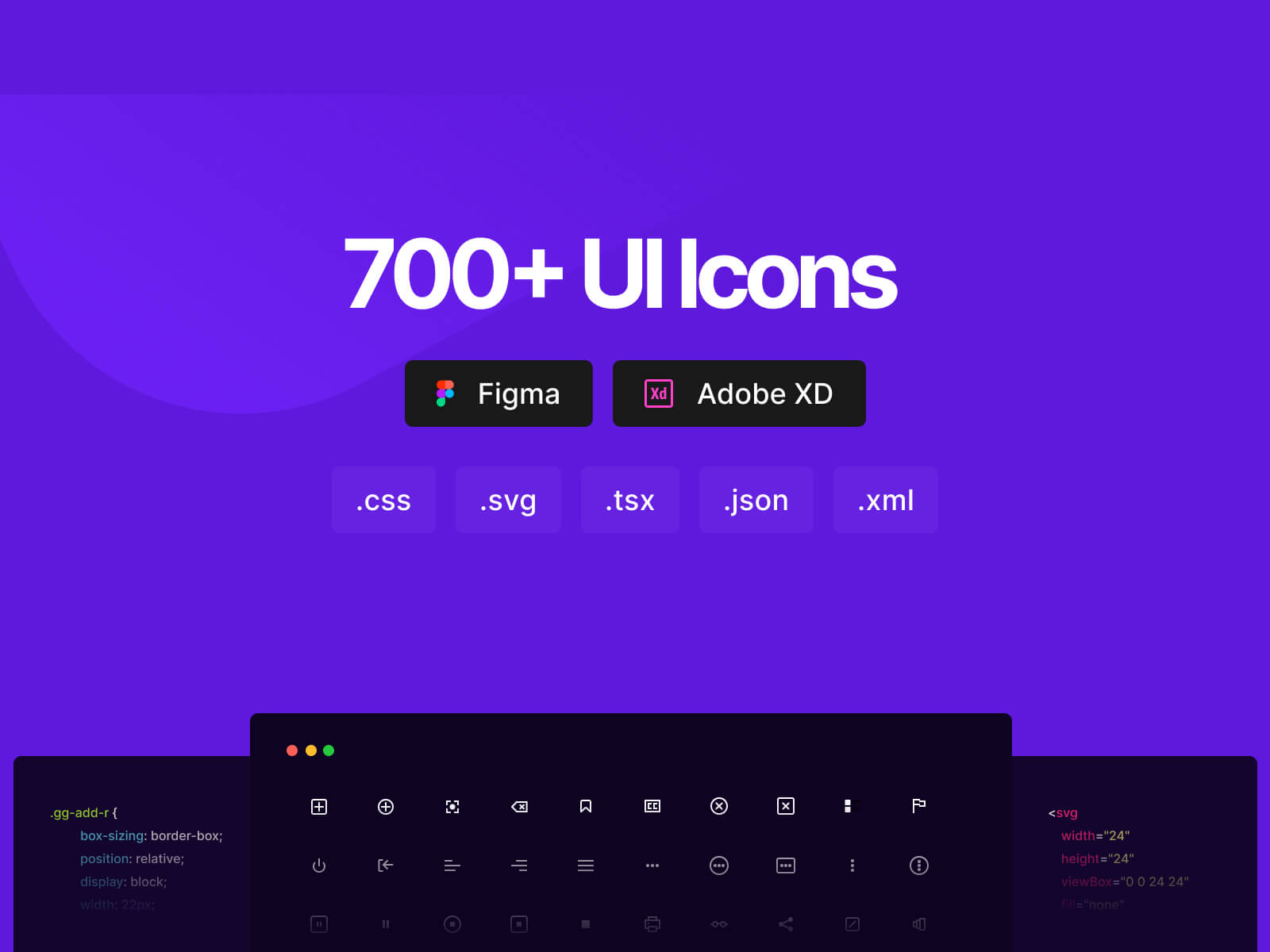 700+ Free Icons in Pure CSS, SVG,  Figma & Adobe XD | CSS.GG - 2.0 cover image