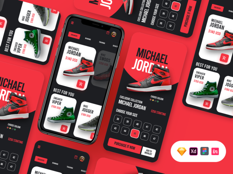 Free Shoes App UI cover image