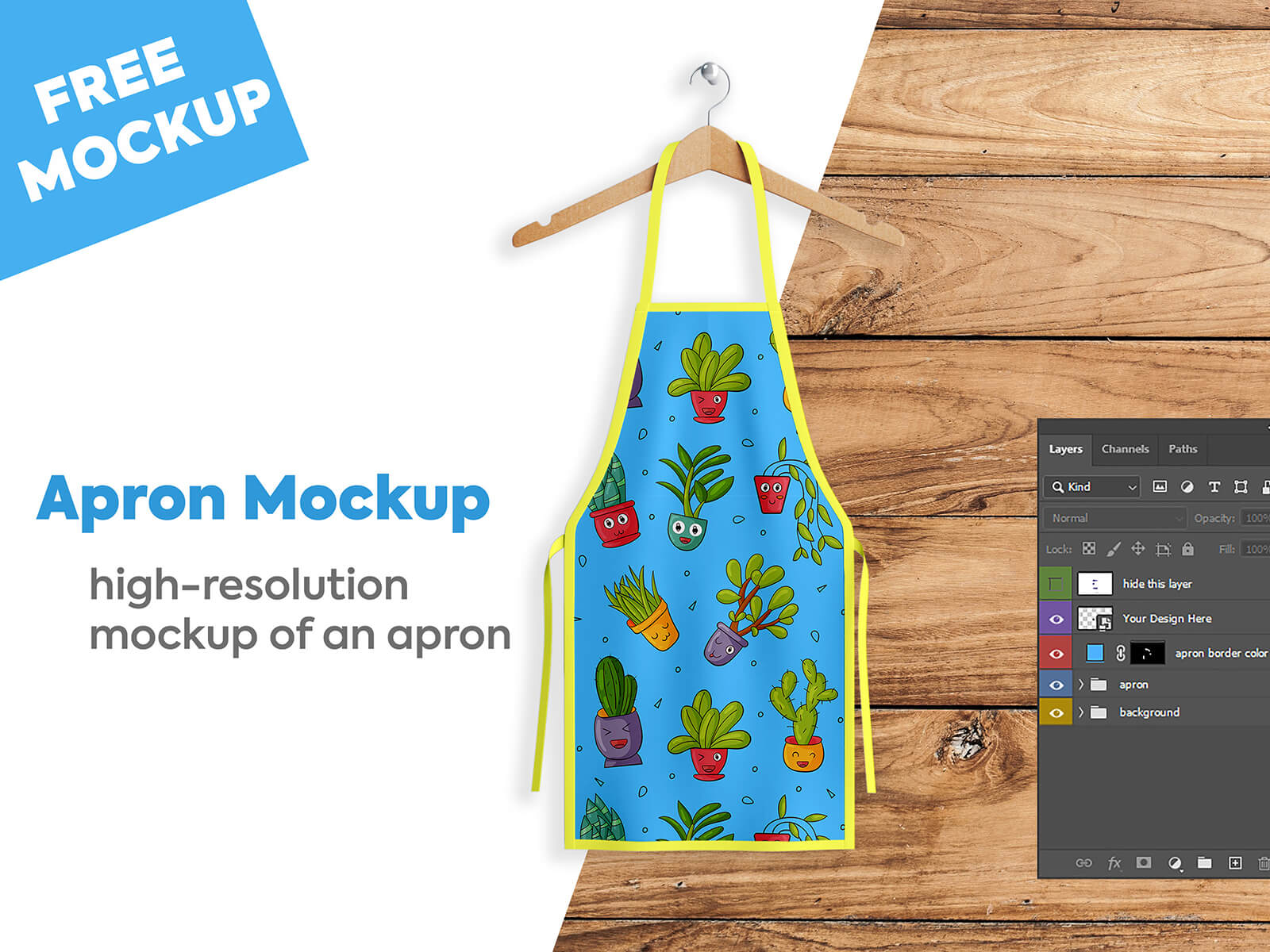 Apron Mockup PSD Free Download cover image