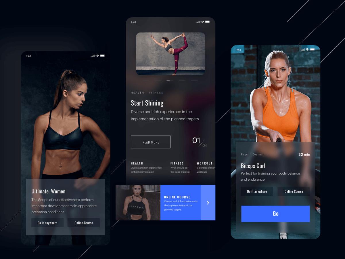 Fitness App Dark Theme cover image