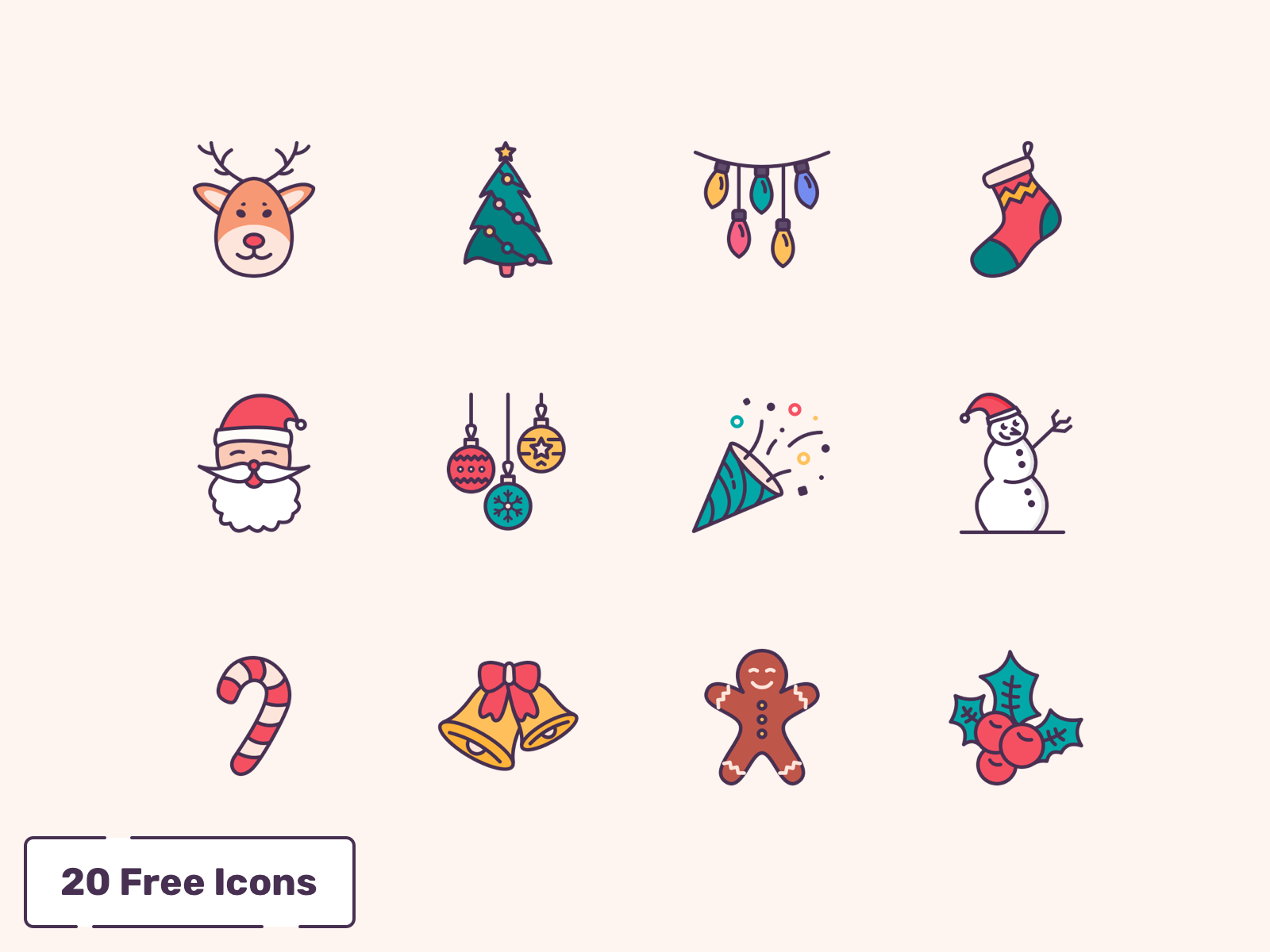 Free 20 Christmas Icons cover image