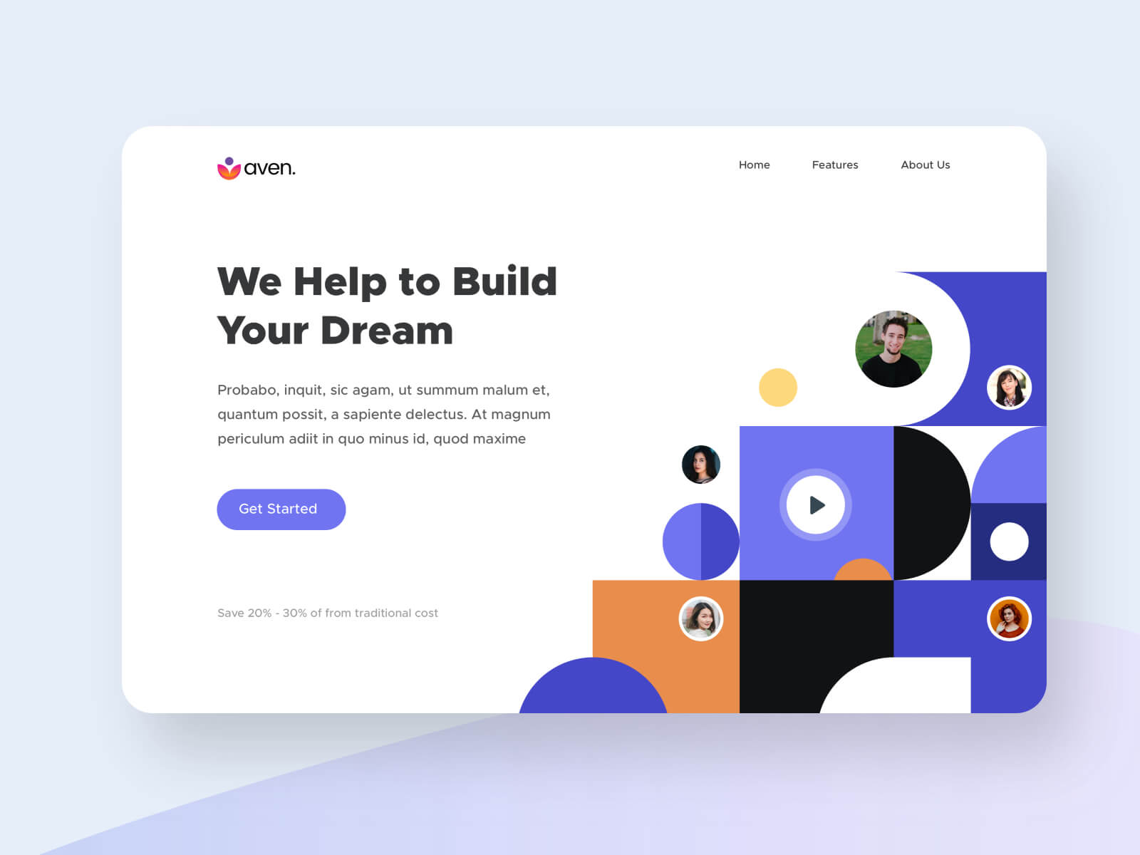 Aven - Landing Page cover image