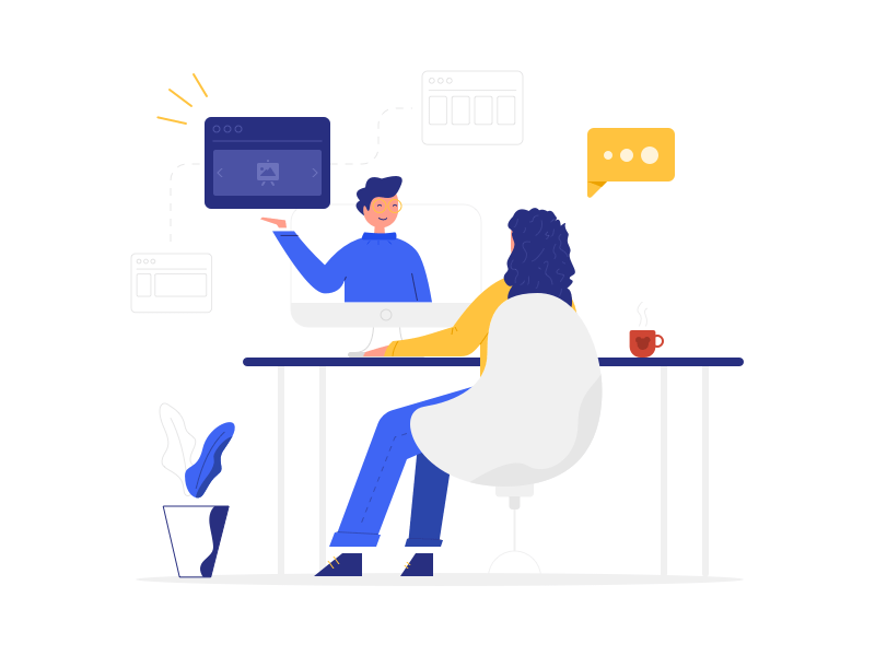 Website Consulting Illustration cover image