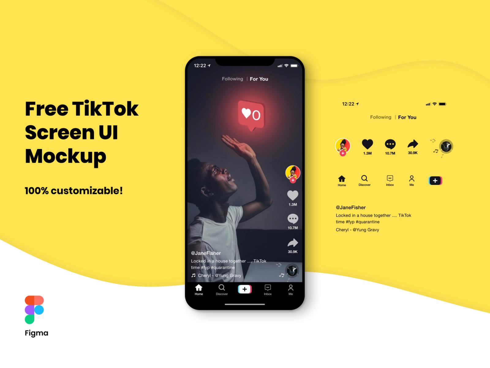 FREE TikTok Screen UI Mockup for Figma cover image