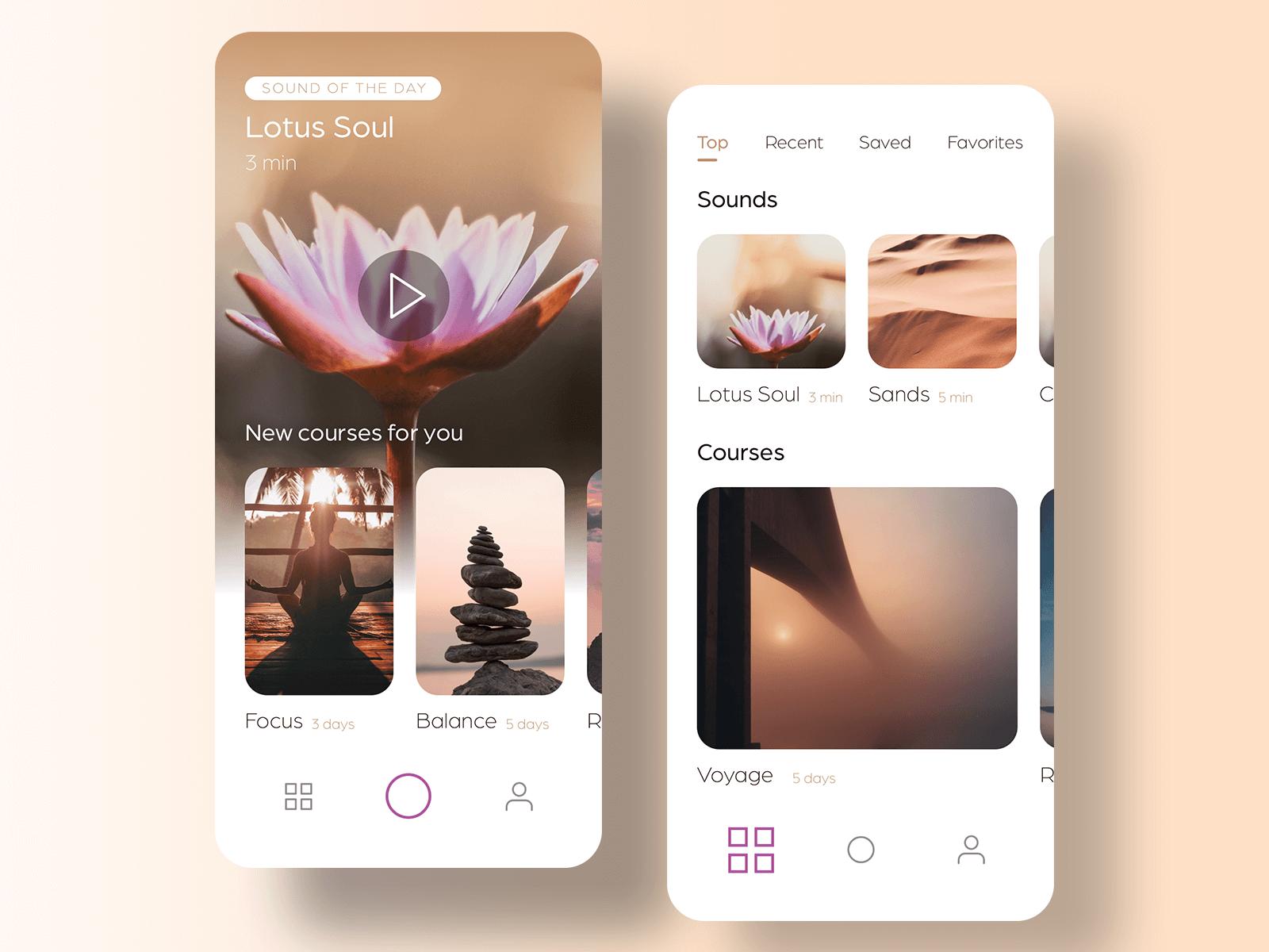 Free Lotus Meditation UI Kit cover image
