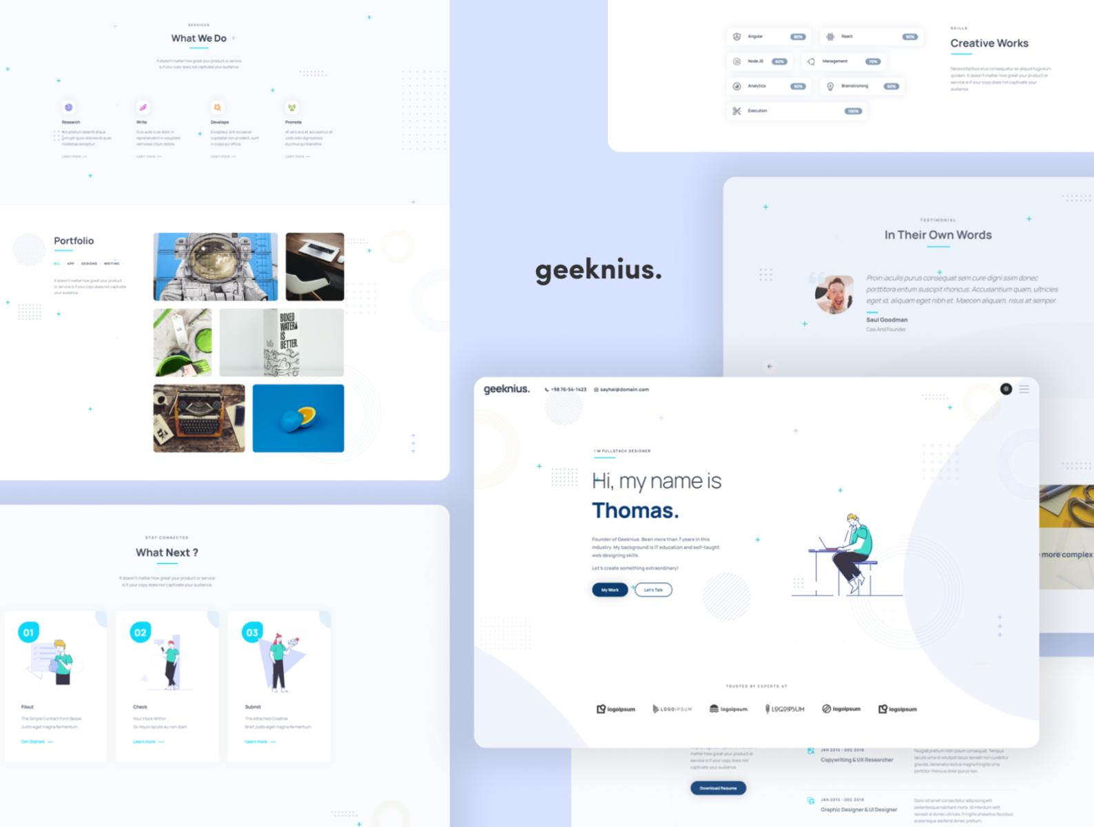 Geeknius Modern & Creative CV/Resume cover image