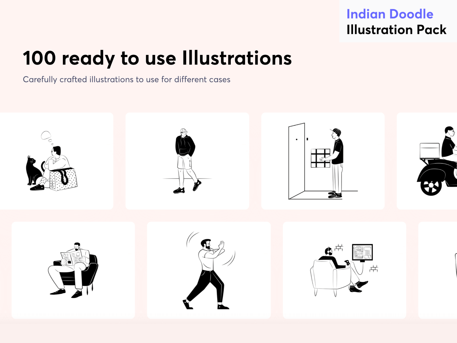 Indian Doodle Illustration pack cover image