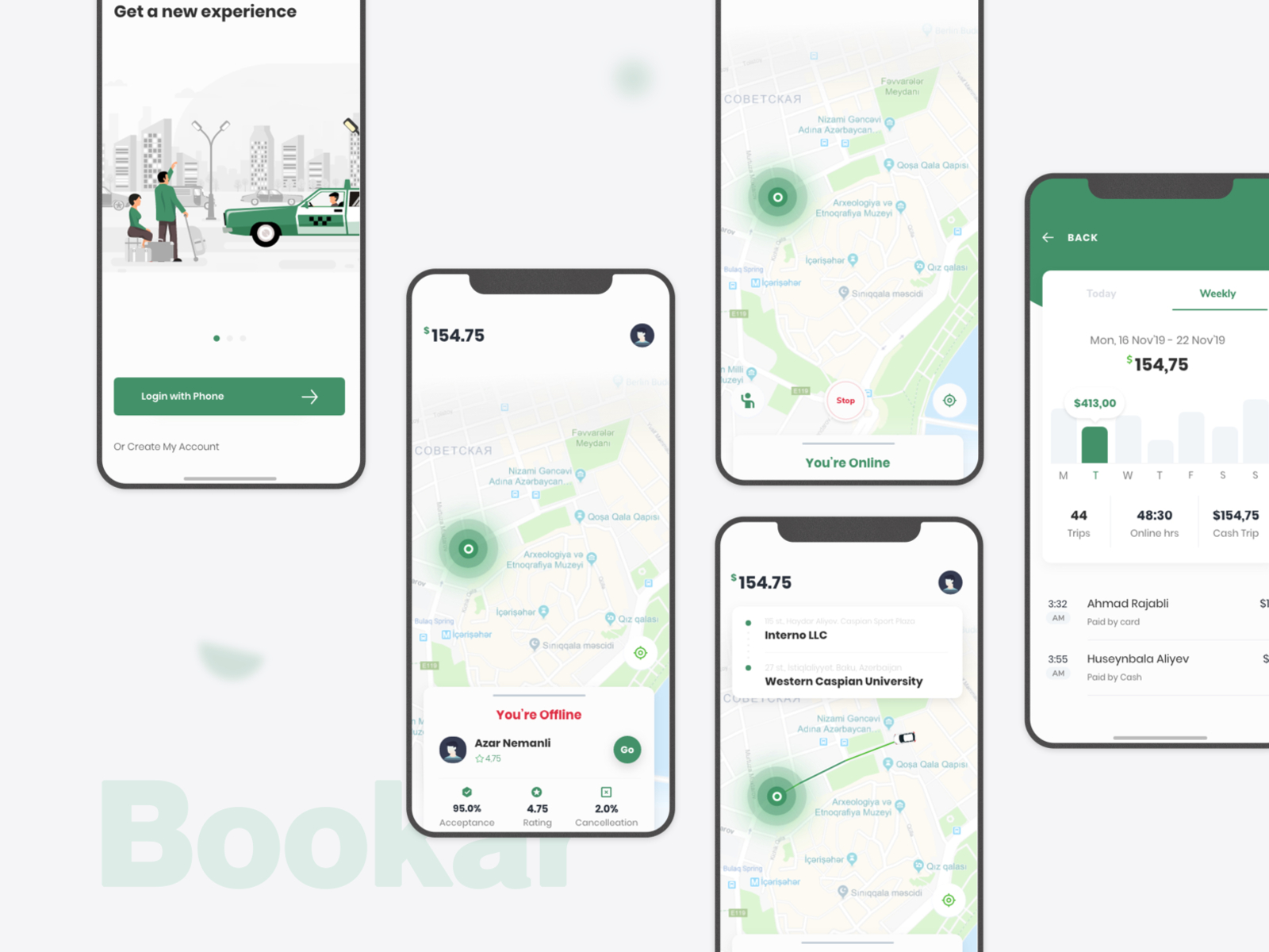Taxi service free UI Kit cover image