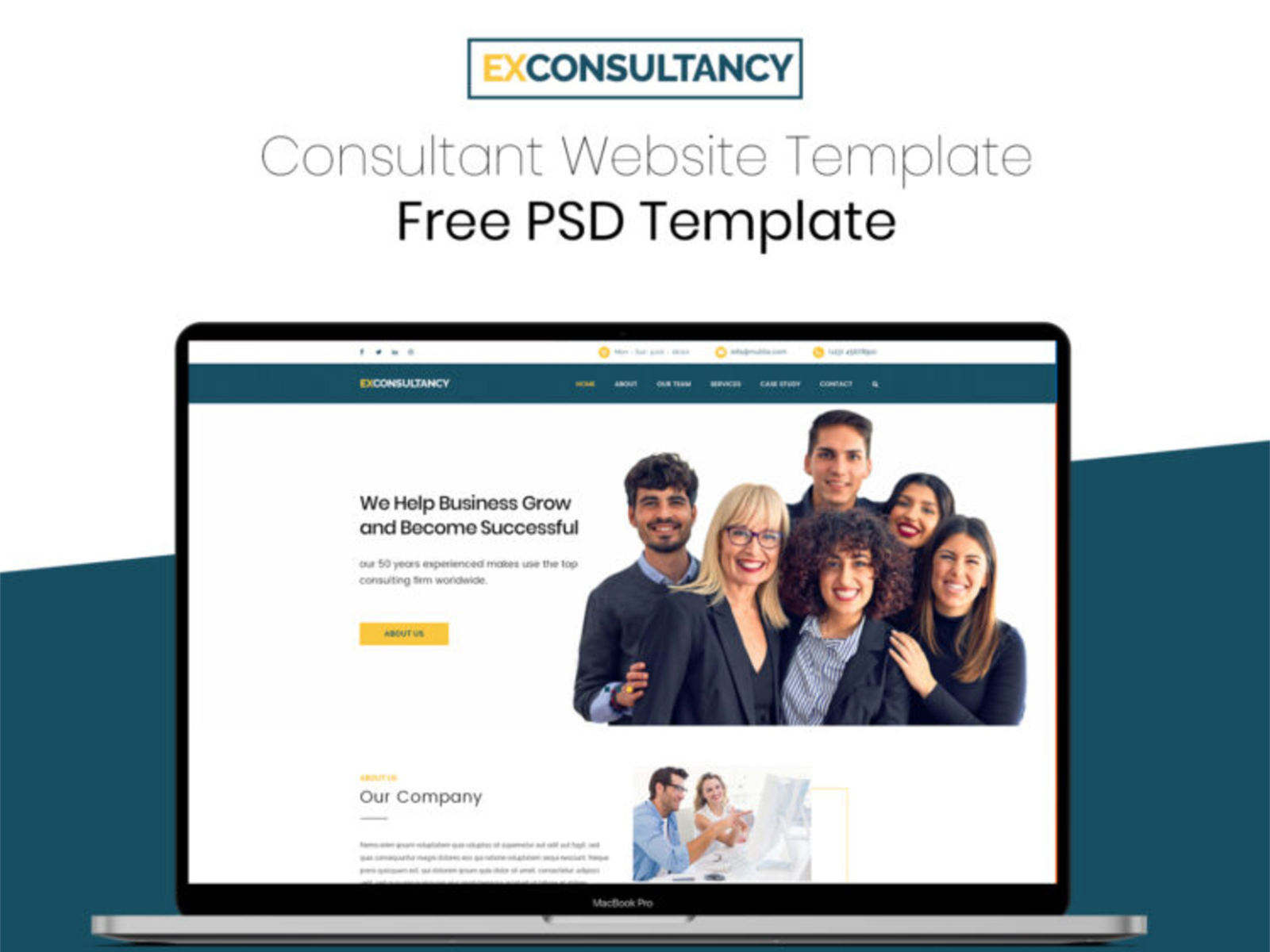Consultant Website PSD Templates cover image