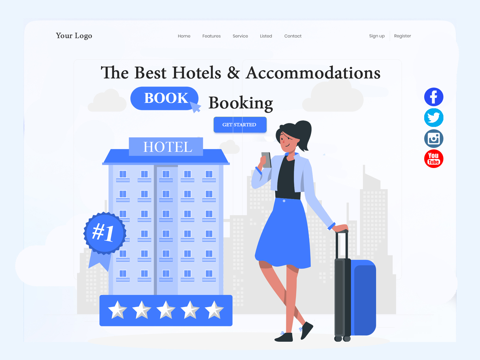 Hotel Booking Homepage cover image