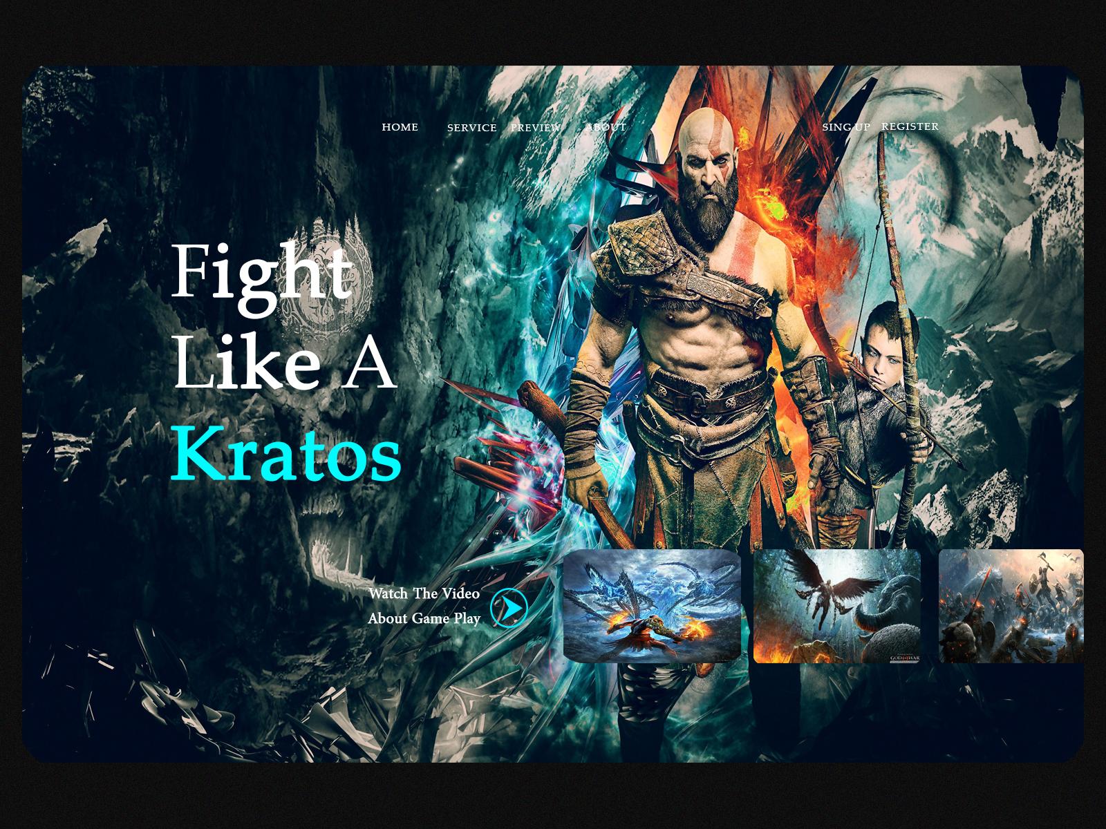 Landing Page God of War cover image