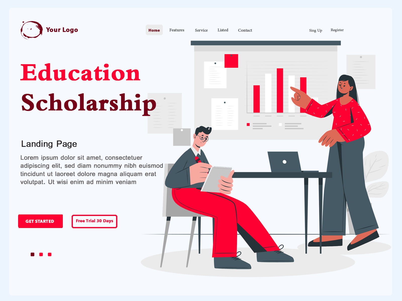 Landing Page Education Scholarship cover image