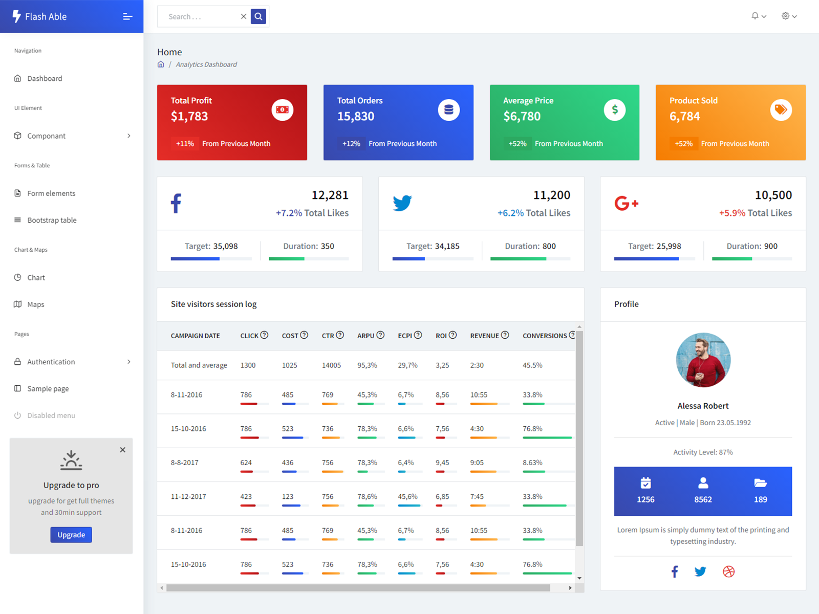 Flash Able Bootstrap Admin Template cover image