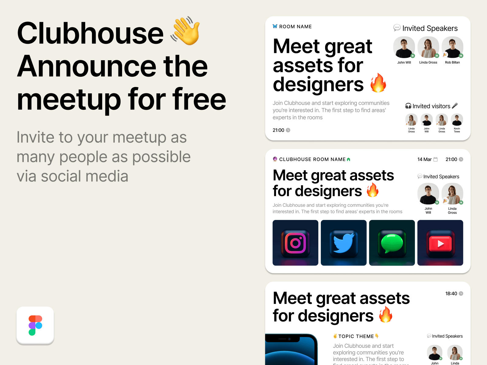 Clubhouse 👋  Announcement Social Cards cover image