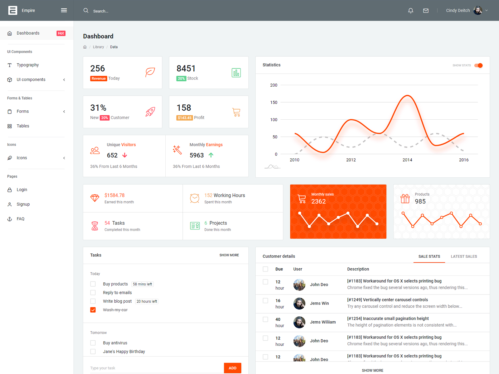 Empire Bootstrap Admin Template cover image