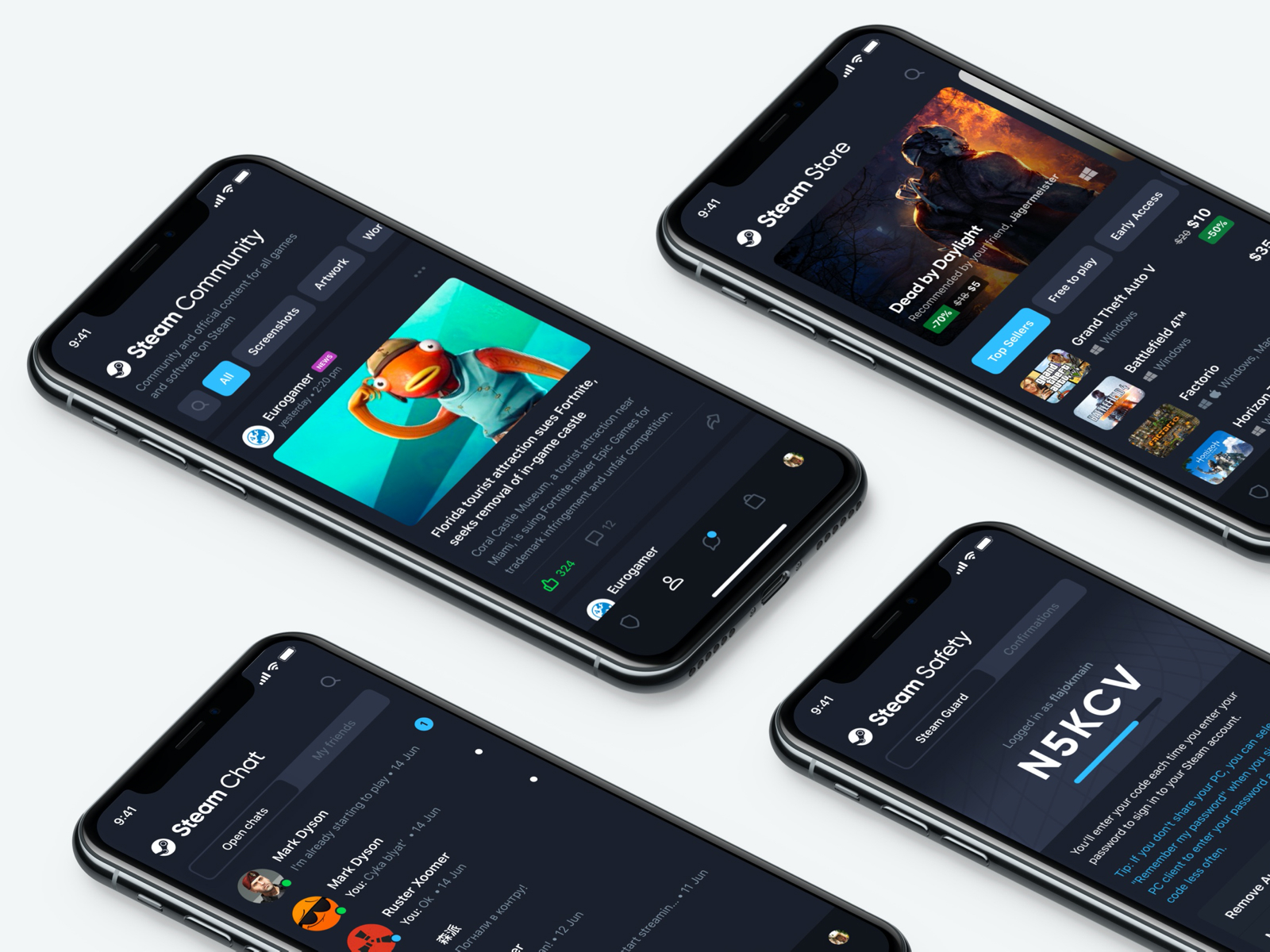 Steam mobile app redesign cover image
