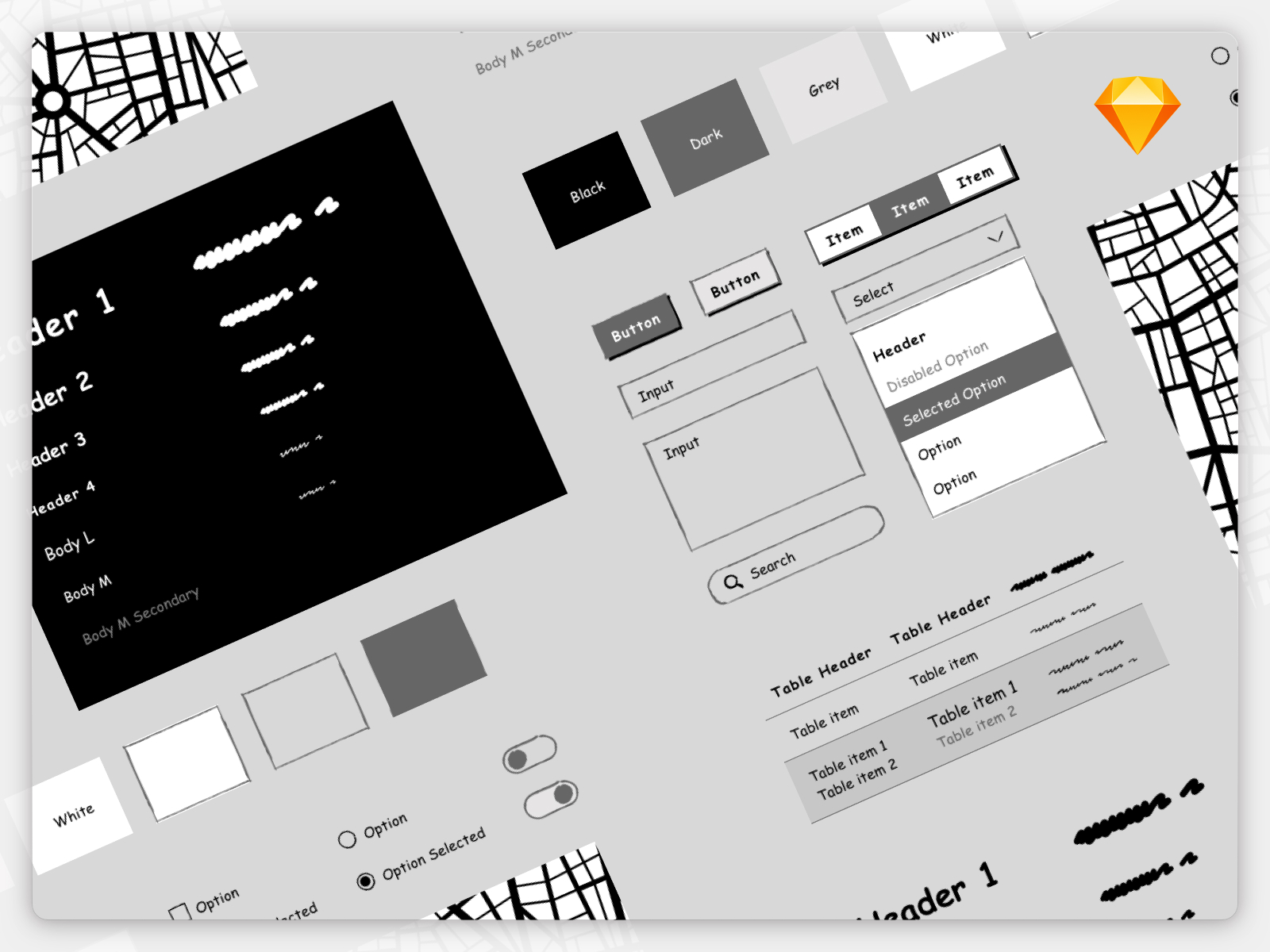 Wireframe UI Kit for Sketch cover image