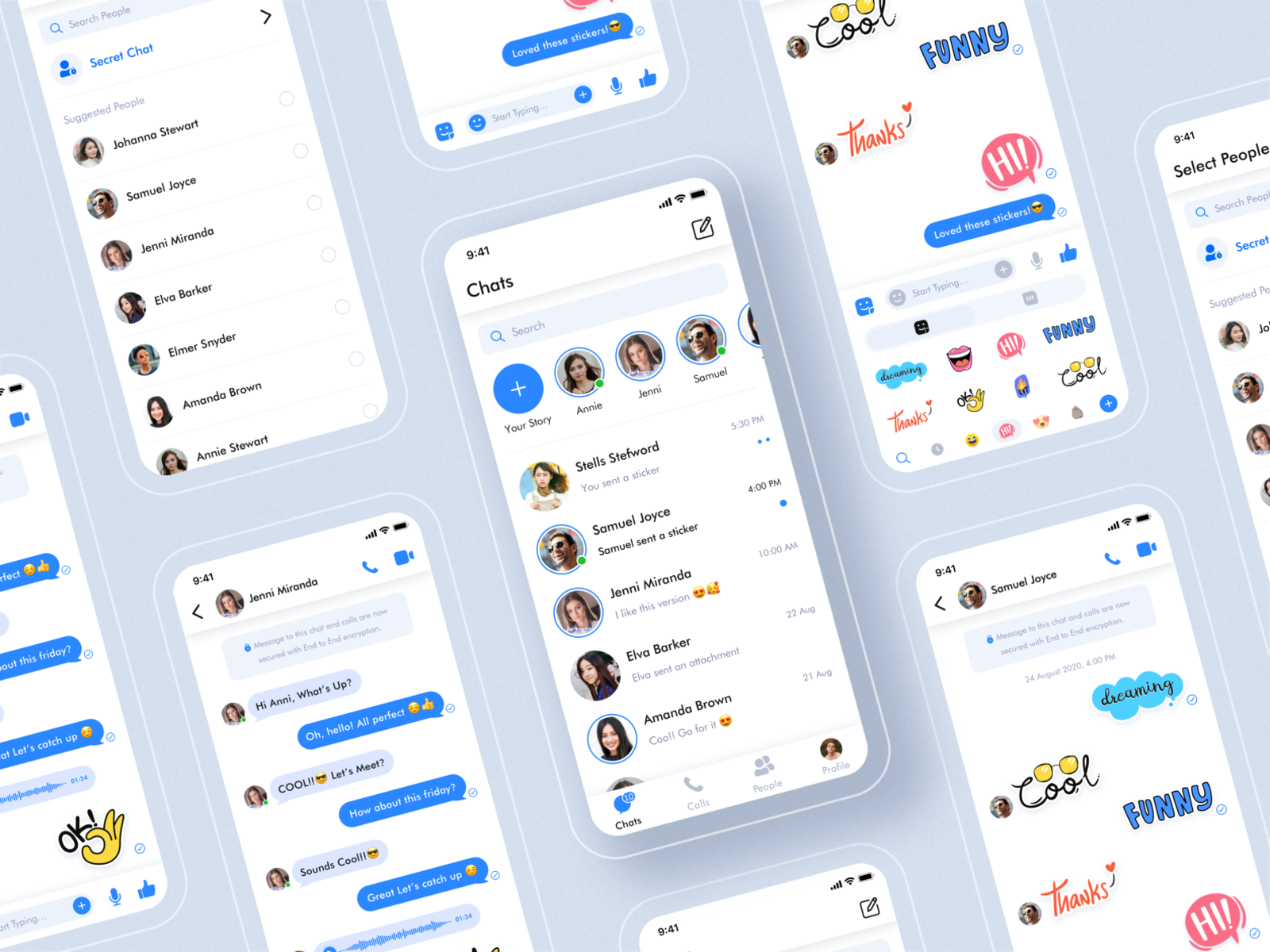 Messaging App Concept (Freebie) cover image