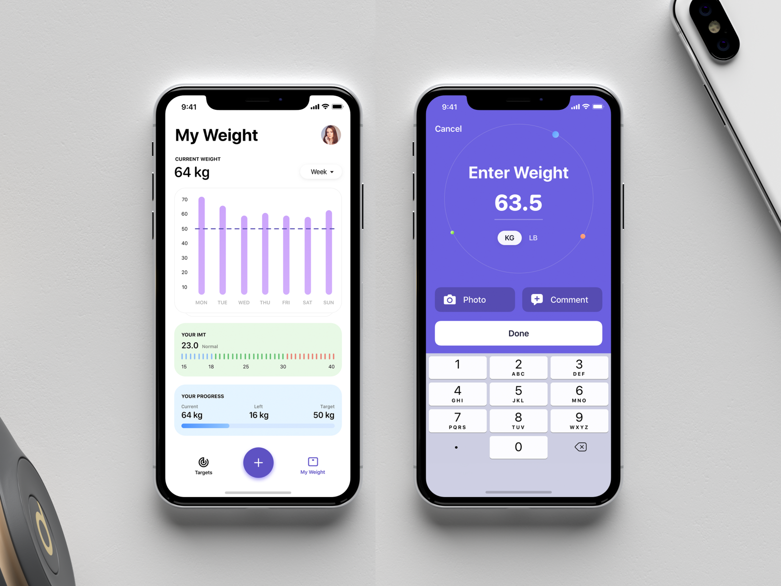 Weight Loss Tracker Mobile App Concept cover image