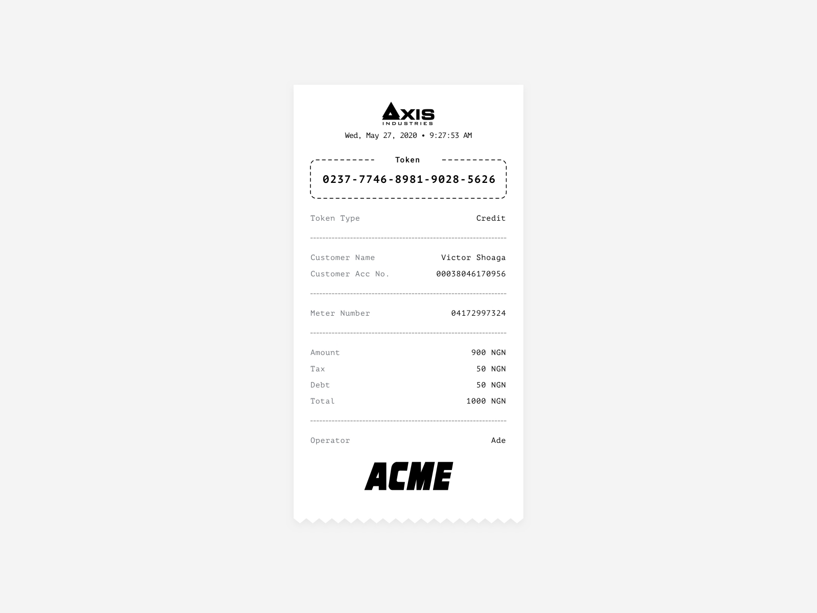 Receipt cover image